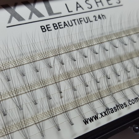 10 D Volume Flare Lashes, 60 pcs, without knots, C curl, 0.05 mm